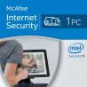 McAfee Internet Security 2018 1 PC licencja na rok
