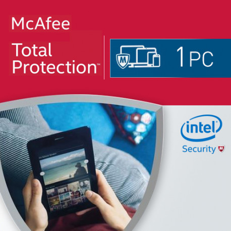 McAfee Total Protection 2018 KEY 1 PC