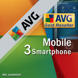 AVG Mobile AntiVirus Security PRO 3 Smartphone / Tablet with Android 1 Year