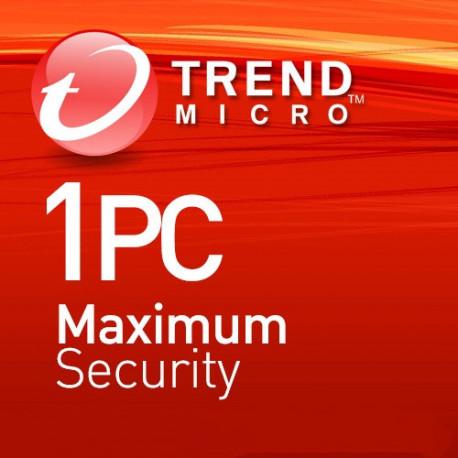 Trend Micro Maximum Security 1 PC 3 Lata