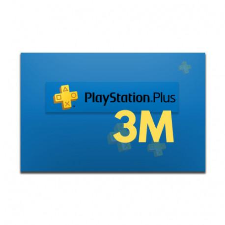 PlayStation Plus 3 miesiące